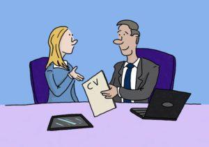 CV resume cartoon
