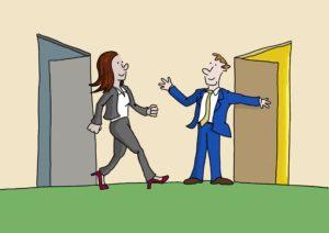 /career Transition Cartoon