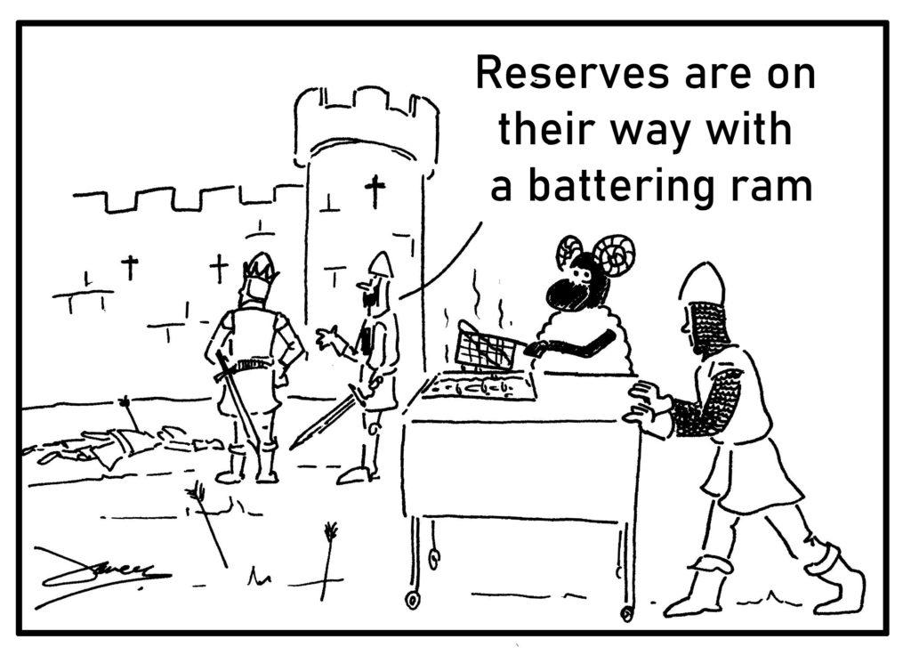 battering ram cartoon