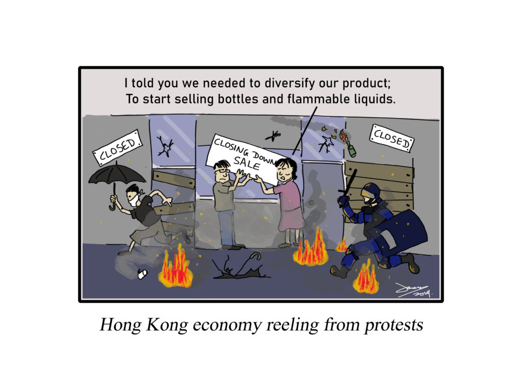 hong kong protests cartoon