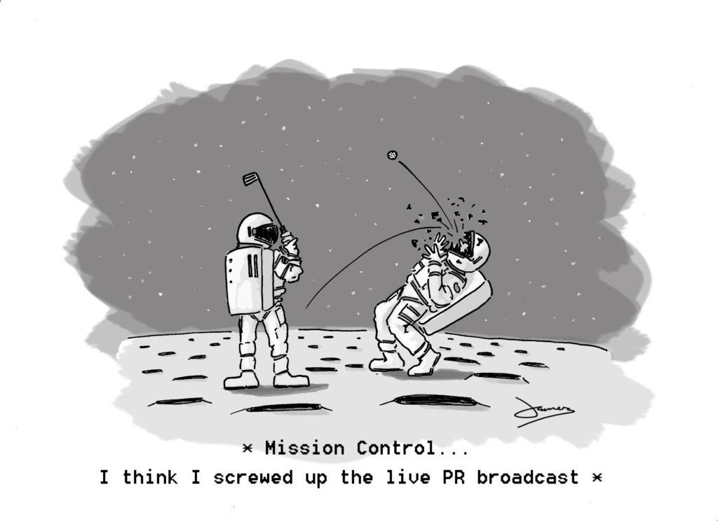 Moon Golf Cartoon