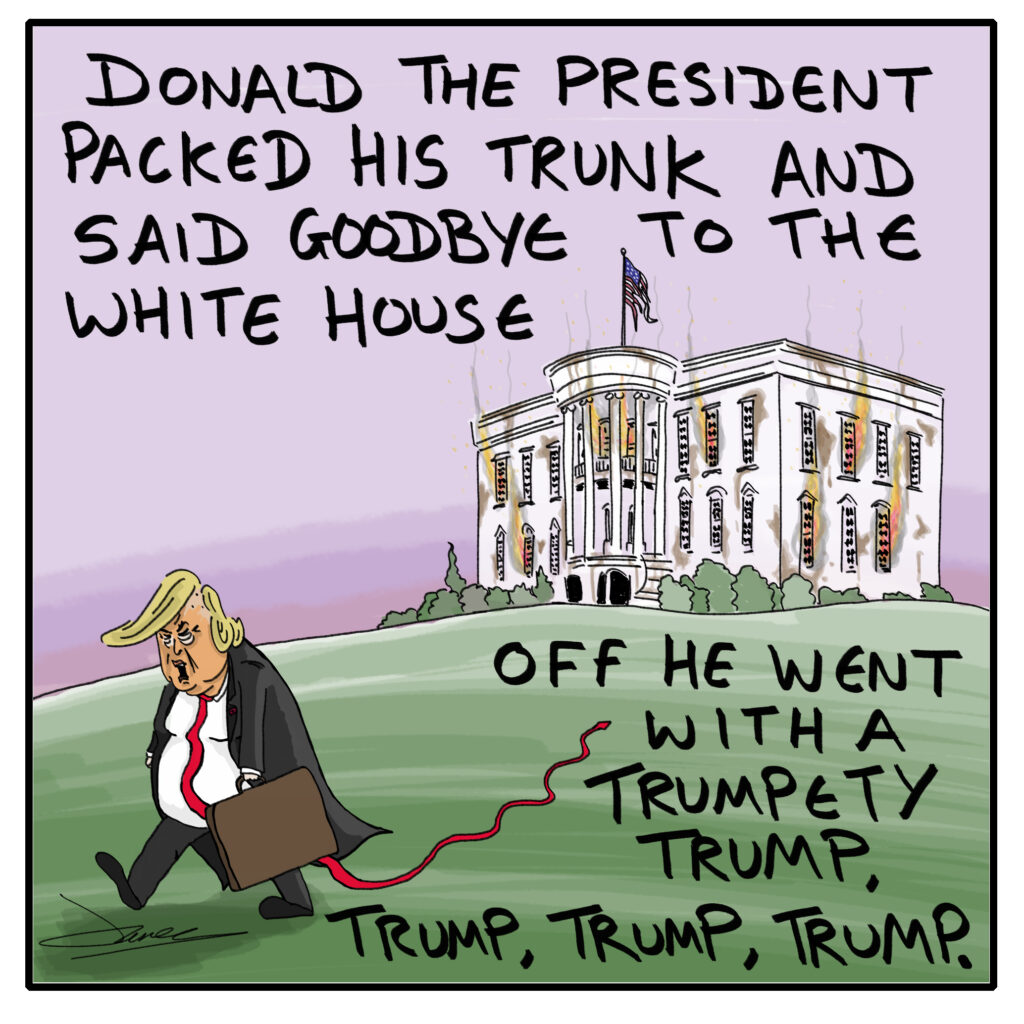 Trump leaves white house