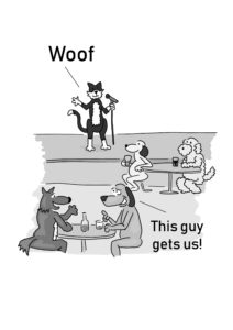 Cat and Dog language cartoon