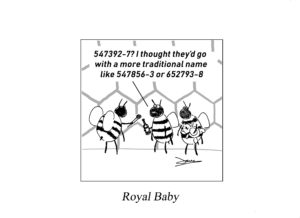Royal Baby Bee Cartoon
