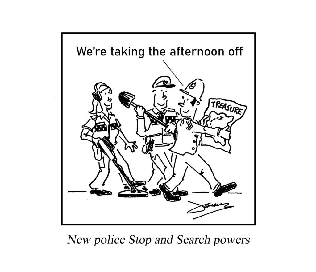 Stop and Search powers cartoon