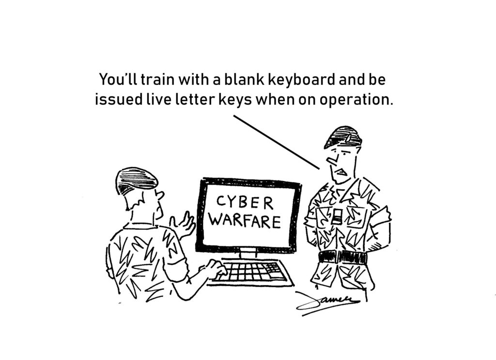Cyber Warfare Cartoon
