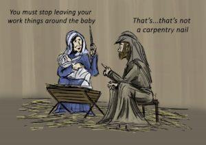 Christmas nativity nails