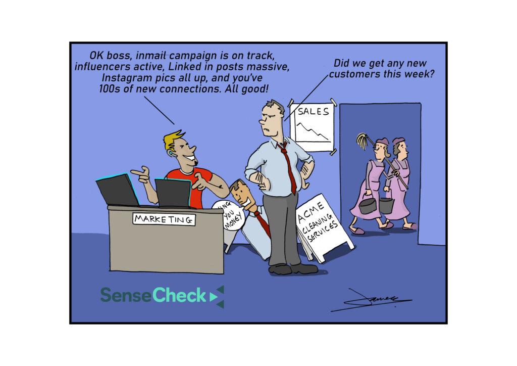 New customers cartoon