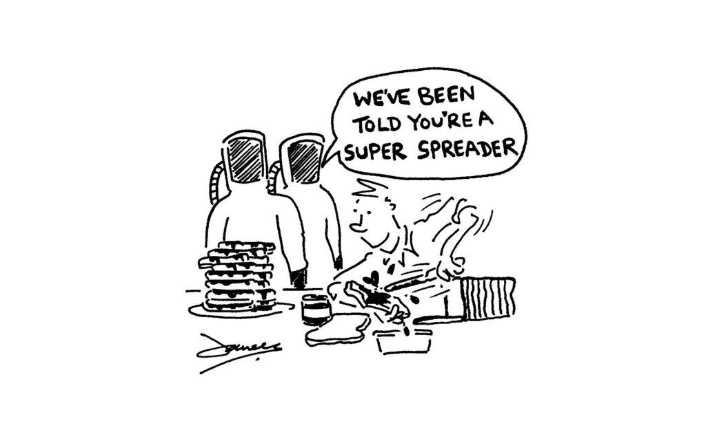 super virus spreader cartoon