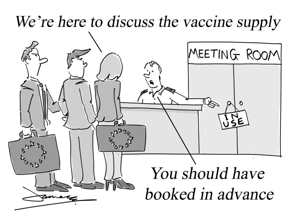 EU vaccine delay cartoon