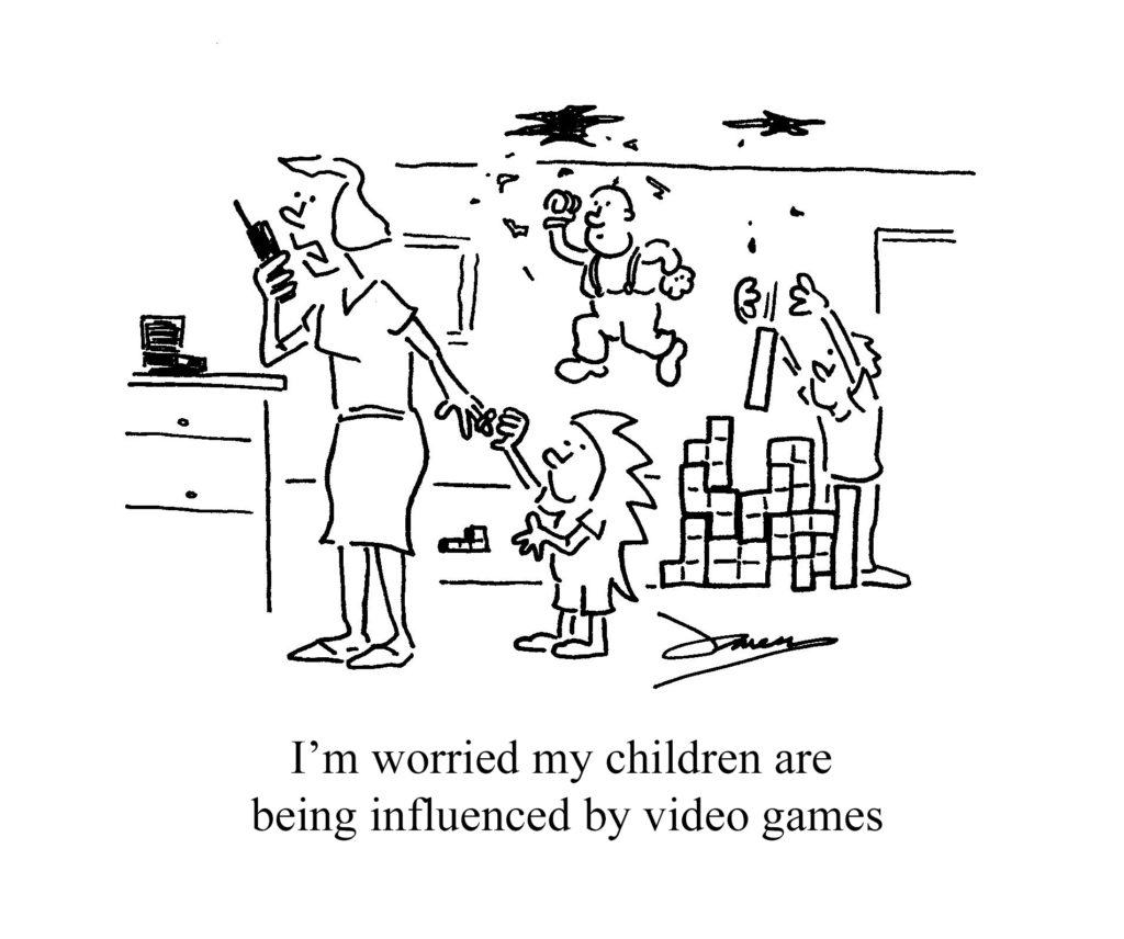 children influenced by video games