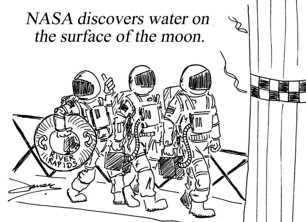 Water discovered on the moon