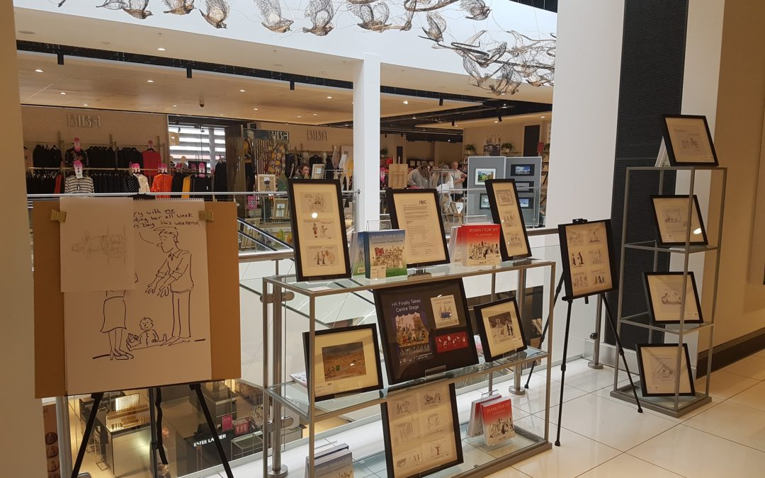 Exhibition and Live Cartooning