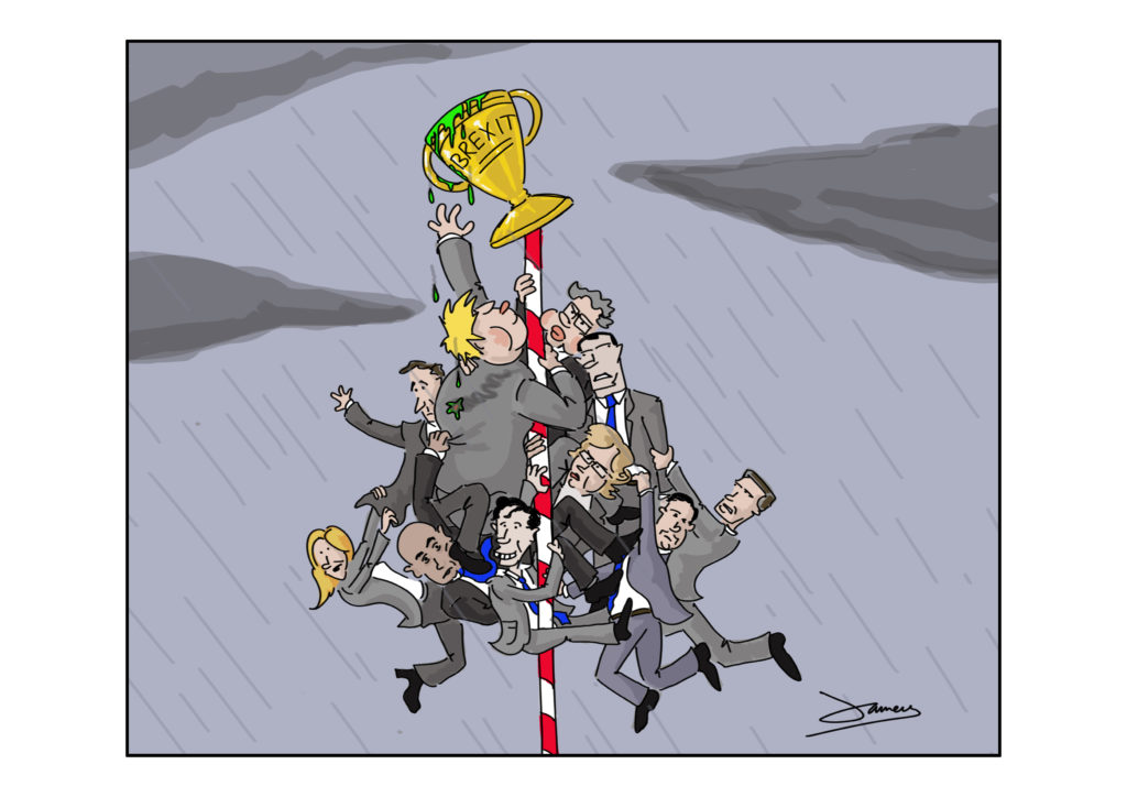 Tory Leadership Contest Cartoon