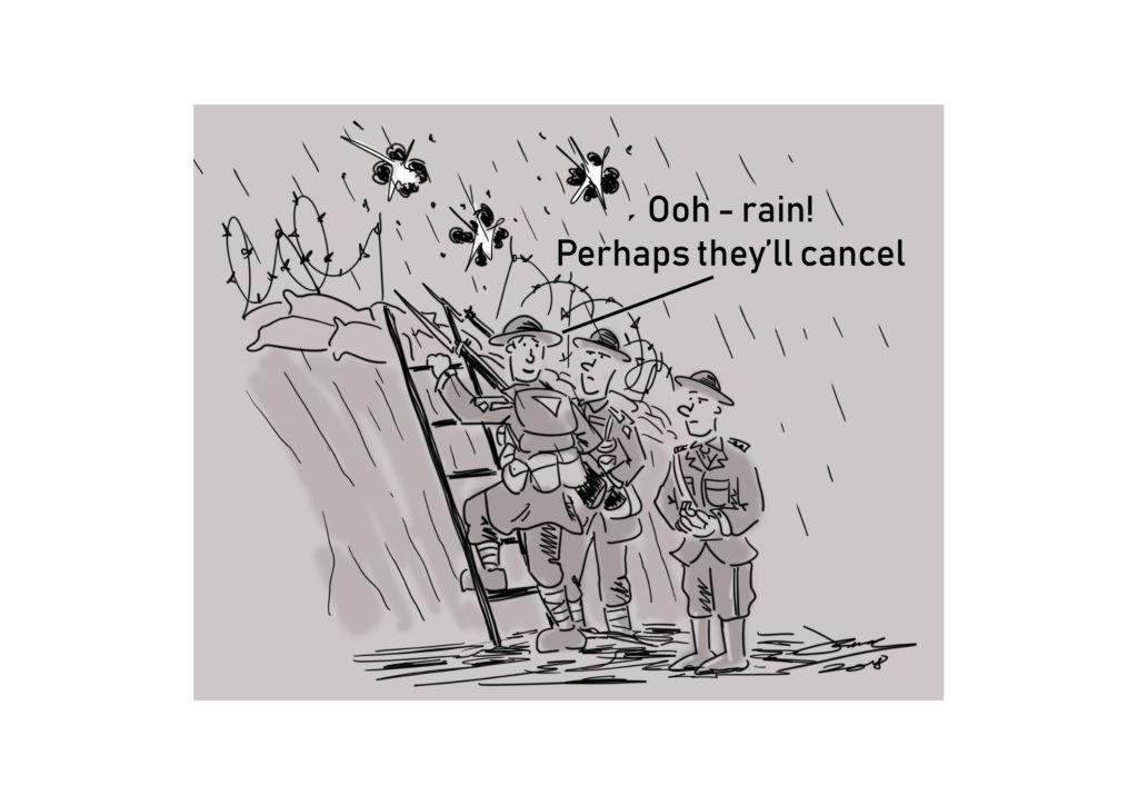 trump rain cartoon