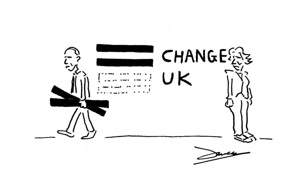 change uk (TIG) split
