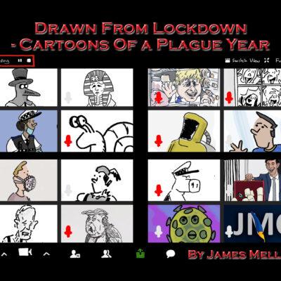 Coronavirus lockdown cartoon zoom call