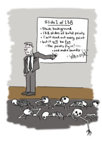 Death by Powerpoint cartoon