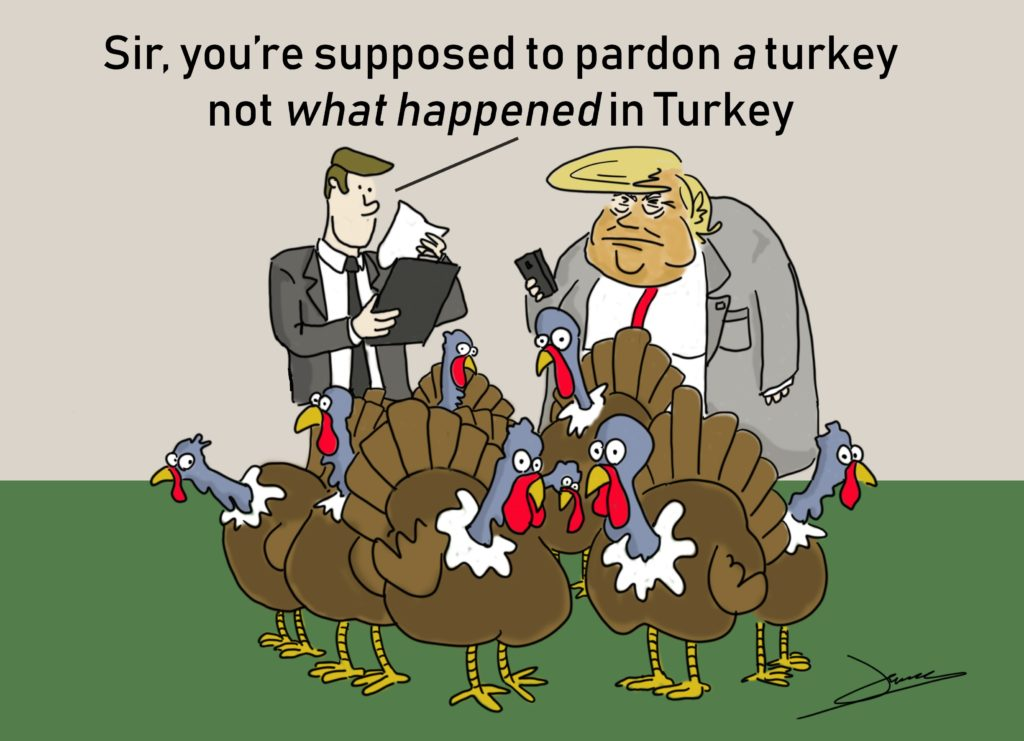 trump turkey cartoon